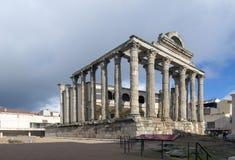 Templo de Diana Apesar de seu nome, atribuído errada em sua descoberta, a construção era foto de stock