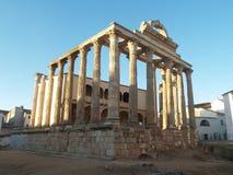 Templo de Diane em Merida, Spain Fotografia de Stock