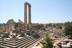 Templo de Didim Apolo Imagen de archivo libre de regalías