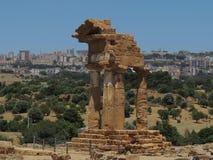 Templo de Dioscuri Foto de archivo