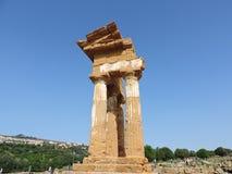Templo de Dioscuri Imagem de Stock Royalty Free