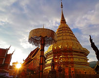 Templo de Doi Suthep Foto de Stock Royalty Free