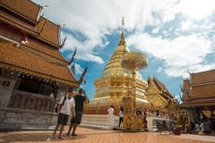 Templo de Doi Suthep en Chiang Mai, Tailandia Imágenes de archivo libres de regalías
