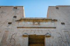 Templo de Edfu Dedicado ao deus Horus do falc?o Egypt fotografia de stock