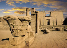Templo de Edfu, Egito Foto de Stock