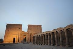 Templo de Egipto de Philae Imagen de archivo