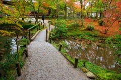Templo de Enkoji en otoño Fotos de archivo