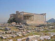Templo de Erechtheion, acrópolis Fotos de archivo libres de regalías