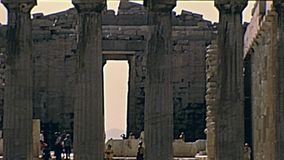 Templo de Erechtheion y del Parthenon almacen de video