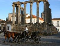 Templo de Evora Imagen de archivo libre de regalías