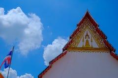 Templo de Gable Roof WatPalayli fotografia de stock royalty free