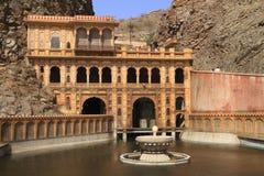 Templo de Galtaji Imagen de archivo libre de regalías