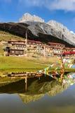 Templo de Gato y el Mt sagrado Zaga en otoño Imagen de archivo libre de regalías
