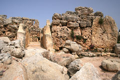 Templo de Ggantija Imagen de archivo libre de regalías