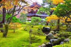 Templo de Ginkakuji en otoño en Kyoto Foto de archivo libre de regalías
