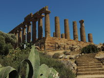 Templo de Giunone Fotos de archivo libres de regalías