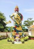 Templo de Guan Gong Giant Warrior Buddhist Imágenes de archivo libres de regalías
