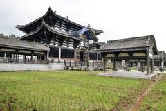Templo de Guangming, templo chinês do estilo da dinastia de Tang, Sichuan fotografia de stock
