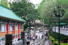 Templo de Guanyin en la montaña del YUN de Tsin, Hong-Kong fotografía de archivo libre de regalías