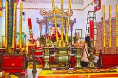 Templo de Guanyin Gumiao del chino de la visita, Rangún, Myanmar Fotos de archivo libres de regalías