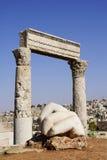 Templo de Hércules, Amman, Jordania Imagenes de archivo