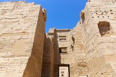 Templo de Habu - Egito imagem de stock royalty free