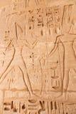 Templo de Habu - Egito imagens de stock
