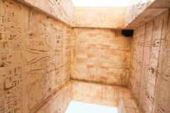Templo de Habu - Egito foto de stock