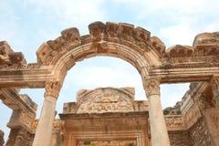 Templo de Hadrian en Ephesus, Turquía Imagen de archivo