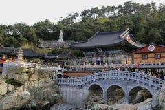 Templo de Haedong Yonggung imagem de stock