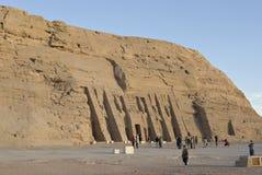 Templo de Hathor e de Nefertari, Abu Simbel, Egipto Foto de Stock Royalty Free