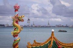 Templo de Hean Boo Thean Kuanyin Chinese Buddhist em Penang, Malásia fotos de stock royalty free