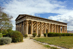 Templo de Hephaestus, Atenas, Greece Imagem de Stock