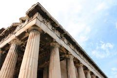 Templo de Hephaestus e de Athena Ergane Foto de Stock