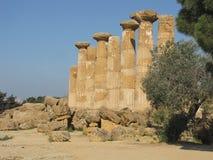 Templo de Heracles Imágenes de archivo libres de regalías