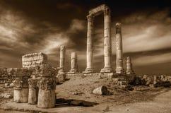 Templo de Hercules (Amman) no sepia Fotos de Stock