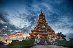 Templo de Huai Pla Kung en el estilo chino Chiangrai Tailandia Imagenes de archivo