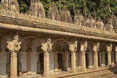 Templo de Hutheesing em Ahmadabad, Gujarat, Índia imagens de stock