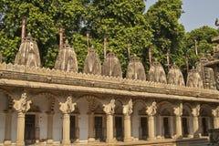 Templo de Hutheesing em Ahmadabad, Gujarat, Índia fotografia de stock