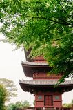 Templo de Ikegami Honmon-ji y behin japonés rojo de los edificios de la pagoda Foto de archivo libre de regalías