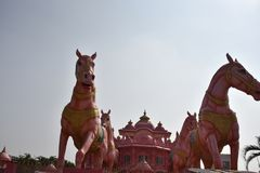 Templo de Iskcon, Anantpur, Andhra Pradesh, Índia Fotografia de Stock Royalty Free