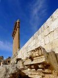 Templo de Júpiter en Baalbek, Líbano Fotografía de archivo