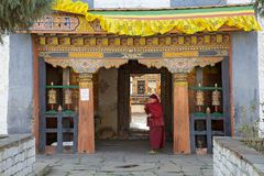 Templo de Jampey Lhakhang, Chhoekhor, Bhután Fotografía de archivo