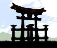 Templo de Japón stock de ilustración
