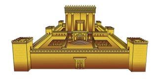 Templo de Jerusalén Imágenes de archivo libres de regalías