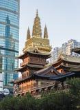 Templo de Jin'an, Shangai Fotografía de archivo
