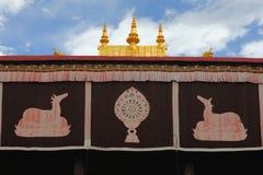 Templo de Jokhang fotos de stock royalty free