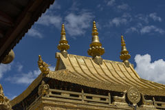 Templo de Jokhang en Lasa, Tíbet Imagen de archivo