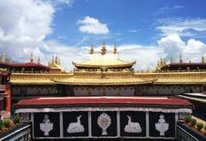 Templo de Jokhang, um templo famoso em tibet fotos de stock