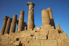 Templo de Juno en el valle de templos en Agrigento Fotos de archivo